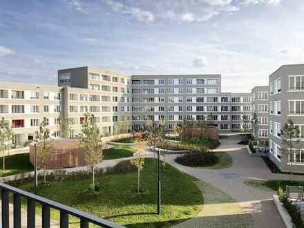 PASING-OBERMENZING (NEUBAU-ERSTBEZUG): Großzügige 3-Zimmer-Wohnung mit Westloggia (inkl. EBK)