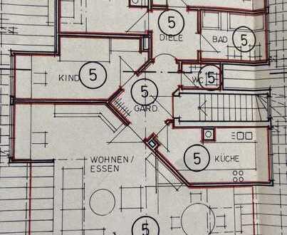 Stilvolle, gepflegte 4,5-Zimmer-DG-Wohnung mit Balkon und Einbauküche in Konstanz (Kreis)