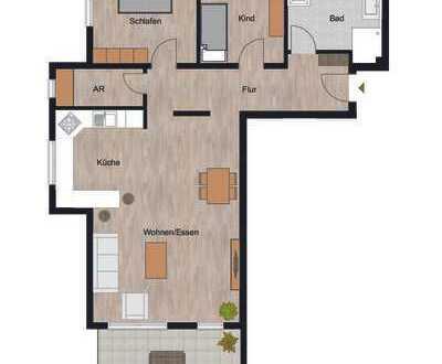 Herrliche 3-Zimmer Wohnung mit riesiger und sonniger Terrasse!!!