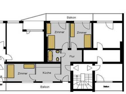 *Schöne helle 3-Zimmer-Wohnung mit Küche und zwei Balkonen, WG geeignet*
