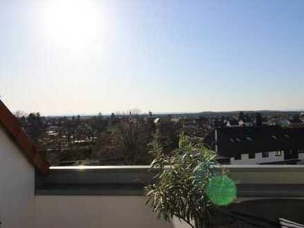 Stilvolle, modernisierte DG-Wohnung mit Balkon mit herrlichem Fernblick am Fusse von Bessungen