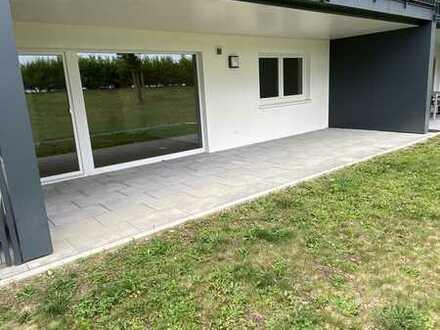 Ruhige 2-Zimmer-Wohnung mit ebenerdiger Terrasse in zentraler Lage