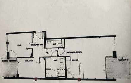 Bestlage Lehel, Panoramasicht Südwest und Südost mit EB Küche und 2 Balkone/Loggia