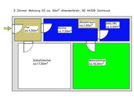2 Zimmer Wohnung EG mit Garage