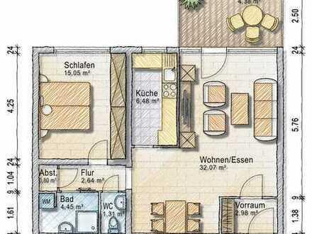 Ruhig gelegene 2,5 Zimmer Eigentumswohnung mit Sonnenbalkon und Tiefgaragenstellplatz in toller Lage