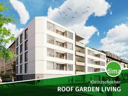 Roof Garden Living | Einzigartiger KfW-55-Neubau | großer Gemeinschafts-Dachgarten mit Terrasse