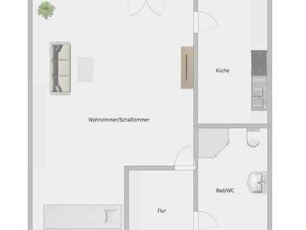 Wohnglück mit Blick über den Dächern Göppingens, Modernisierte 1-Zimmer-Wohnung mit Balkon und EBK