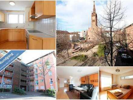 Stadtmitte Ludwigshafen - attraktive 3-Zimmer-Wohnung mit Balkon, Tiefgaragenstellplatz und Aufzug