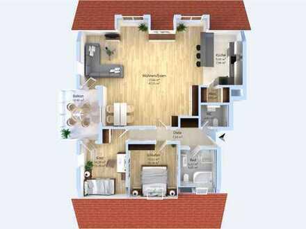 Genießen Sie den Sonnenuntergang! Traumhafte 3-Zimmer-Wohnung mit Balkon