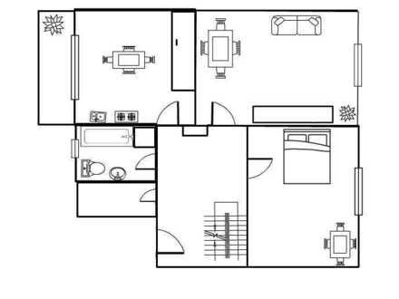 Maisonette-Wohnung mit 4 Zimmern und Balkon