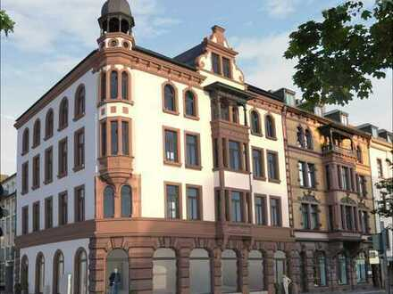 LUITPOLDHAUS - HISTORIE - MODERNE Stilvolle 2-Zimmer Altbau-Etagenwohnung mit Balkon