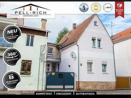 DORNRÖSCHENSCHLAF: Saniertes Einfamilienhaus mit Scheune und Ausbaupotential in Bellheim