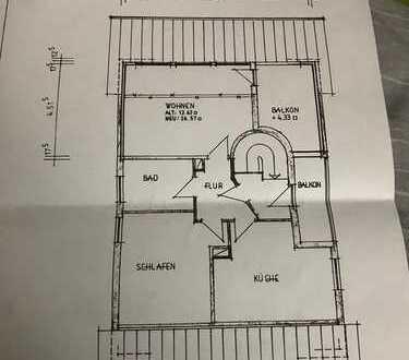 Gepflegte 2-Zimmer-DG-Wohnung mit Balkon und Einbauküche in Coburg (Kreis)