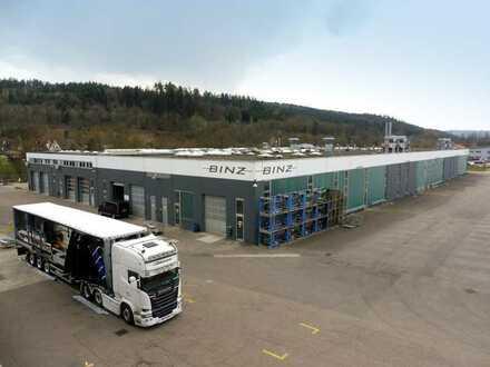 Gewerbeareal mit Hallen für Produktion und Lager, aufteilbar