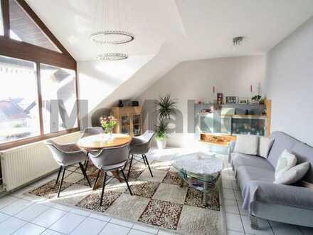 Helle 3-Zimmer-Maisonettewohnung mit schöner Balkonaussicht im familienfreundlichen Reilingen