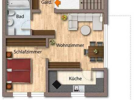 GLOBAL INVEST SINSHEIM   Vorankündigung! Tolle 2-Zimmer-Dachgeschosswohnung in bester Lage von Necka