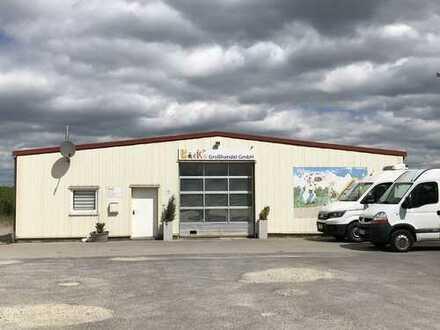 isolierte EDEL-STAHL-HALLE ** ca. 300 m² ** 2 Tore
