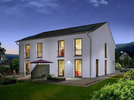 Grundstück in Oranienburger OT mit geplanter Doppelhaushälfte AURA 125 von Town & Country Haus