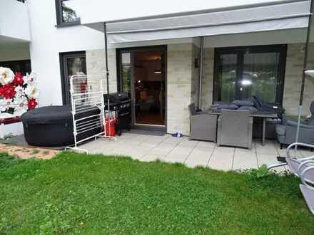 Neubau; Südstadtgärten,schicke 2 Zimmer mit EBK und eigenem Gärtchen! Fußbodenheizung, TG Stellplatz