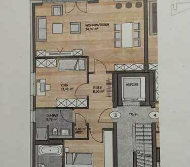 Erstbezug mit Balkon: exklusive 3-Zimmer-Wohnung in Wuppertal-Ronsdorf