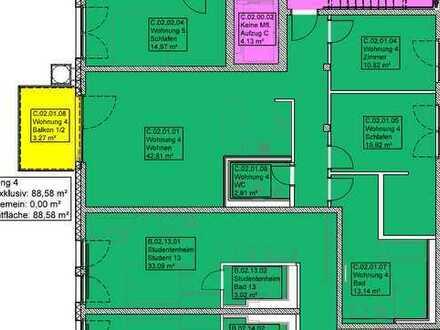 Moderne 3 ZKB-Wohnung im Bleyle Quartier LB