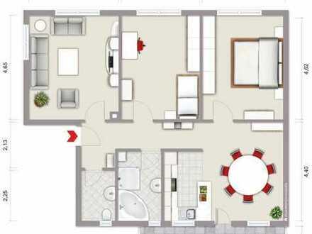 Gepflegte 3 Zimmerwohnung mit Balkon, Keller, Dachboden und Stellplatz in Bamberg