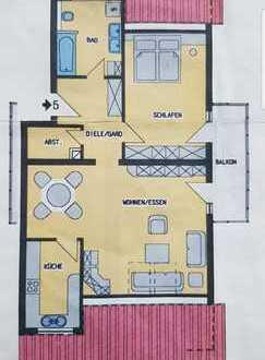 Schöne 2,5-Zimmer-Dachgeschosswohnung mit Balkon und Einbauküche in Beilstein - Schmidhausen