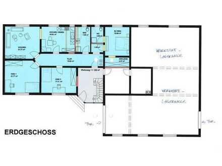 4- Z.-Wohnung (ca. 120 m²) mit angrenzender Lagerhalle (ca. 161 m²) in 56288 Kastellaun zu vermieten
