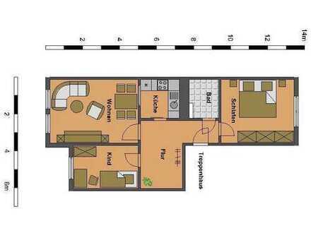 3-Raum-Wohnung für die kleine Familie!