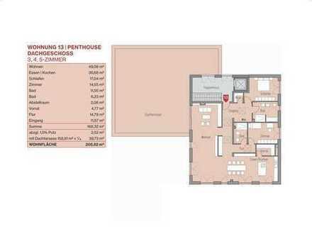 Penthouse mit großer Terrasse, Lift (Whg 13)