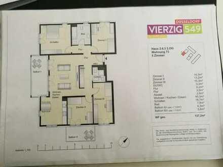 Schöne fünf Zimmer Wohnung in Düsseldorf, Heerdt,