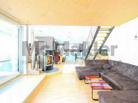 Offenes Wohnen mit Galerie, Balkon und Terrasse - Exklusive Loftwohnung mit Bergsicht