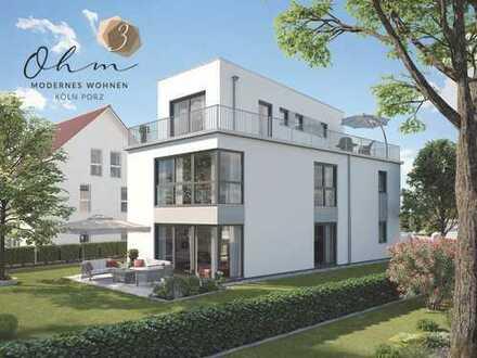 Großes Neubau-Einfamilienhaus! Grüne Lage direkt an Porz-Zentrum.