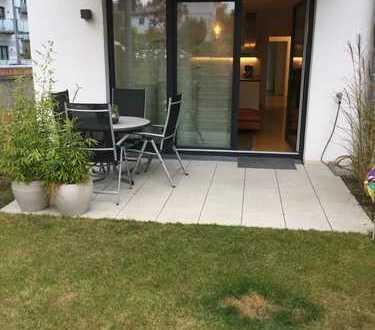 Neuwertige 4-Zimmer-Erdgeschosswohnung mit Garten in Würzburg-Heidingsfeld