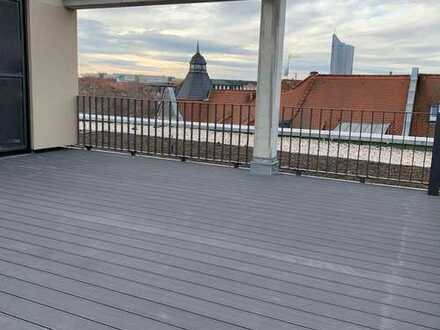 ERSTBEZUG im Neubau! 4-Raumwohnung mit Fußbodenheizung und Dachterrasse!
