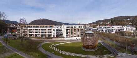 ERSTBEZUG: Schöne, helle 3-Zimmer-Penthousewohnung am Riedbrunnen mit Dachterrasse und tollem Blick