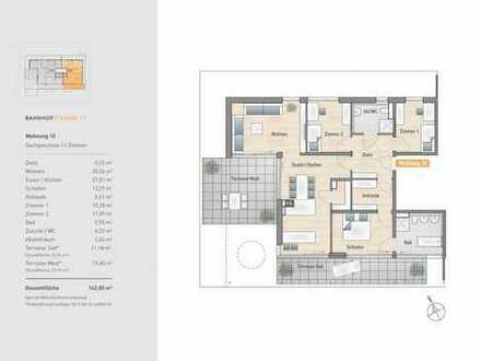 4 Zimmer ganz oben und mit 2 Dachterrassen und Tageslichtbädern!