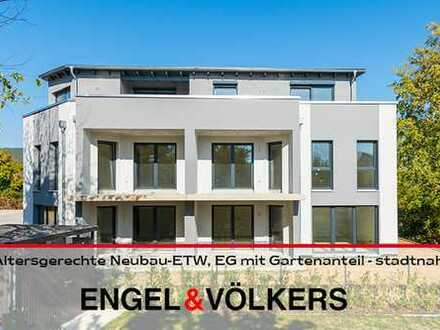 Altersgerechte Neubau-ETW, EG mit Gartenanteil - stadtnah!