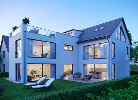 Neubau: Moderne Einfamilienvilla mit Südwest-Garten