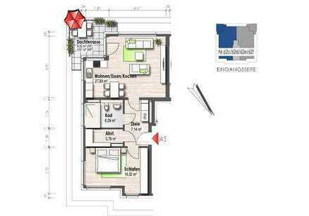 Wohnung mit Dachterrasse und Aussicht (Nr. 5)
