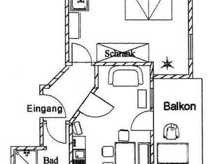 Gepflegte 1,5-Zimmer-Dachgeschosswohnung mit Balkon und Gaube in Haslach im Kinzigtal