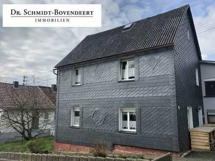 Nähe Hachenburg! Doppelhaushälfte mit Stellplatz und kleinem Garten! Ideal für Handwerker