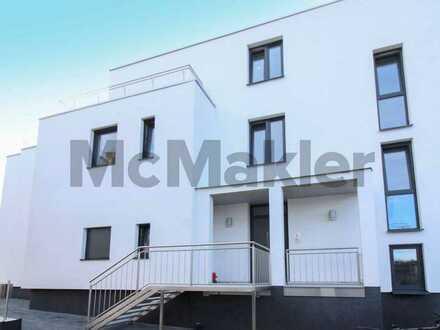 Erstbezug in neuwertige 3,5-Zimmer-Penthouse-Wohnung mit sonniger Dachterrasse und Balkon