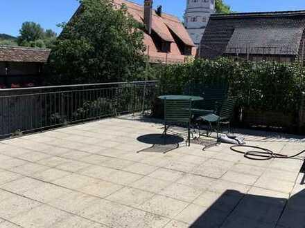 Exklusive Maisonette-Wohnung in ganz zentraler Lage von Wangen mit großzügiger Dachterrasse