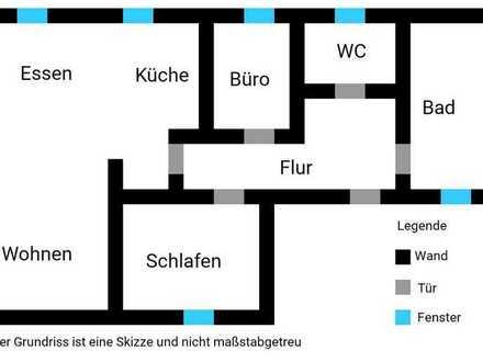 Schöne, geräumige zwei Zimmer Wohnung in Rhein-Pfalz-Kreis, Waldsee