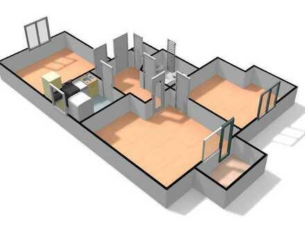 3-Zimmerwohnung mit Balkon und Einbauküche in Schöneck - Kilianstädten