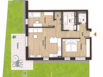 Erstbezug mit Einbauküche, Terrasse und Gartenanteil: exklusive 3-Zimmer-EG-Wohnung in Fürth