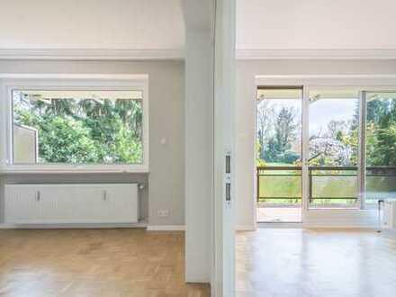Modernisierte 4 Zimmer-Maisonettwohnung mit Kamin und Tiefgarage in Alsterdorf zu vermieten.