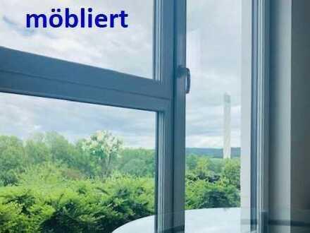 Pendlerwohnung, möbliert, Neubau, TV, EBK, Kühlschrank, Turmblick