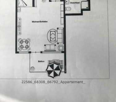 Kapitalanlage -sonnige 1-Zimmer-Erdgeschosswohnung mit Balkon und EBK in Düsseldorf